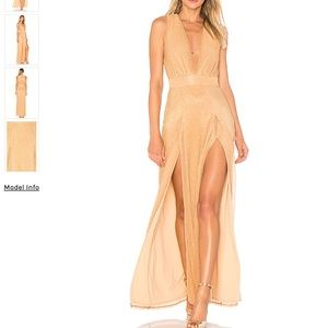Lovers + Friends Naomi Plunge Gown with Slits